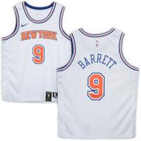 "R.J. BARRETT Autographed ""Maple Mamba"" NY Knicks White Nike Jersey FANATICS"