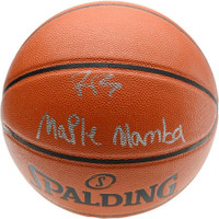 "R.J. BARRETT Autographed NY Knicks ""Maple Mamba"" Spalding Basketball FANATICS"