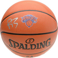 R.J. BARRETT Autographed New York Knicks Logo Spalding Basketball FANATICS
