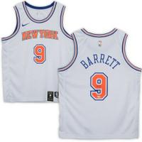 R.J. BARRETT Autographed NY Knicks Nike White Swingman Jersey FANATICS