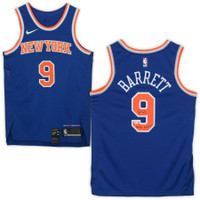 "R.J. BARRETT Autographed ""Maple Mamba"" New York Knicks Nike Jersey FANATICS"