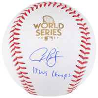 "ALEX BREGMAN Autographed ""WS Champs"" 2017 World Series Baseball FANATICS"