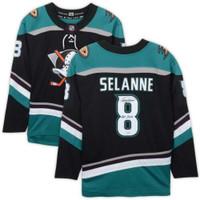 """TEEMU SELANNE Autographed Anaheim Ducks """"HOF 2017"""" Breakaway Jersey FANATICS"""