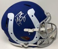 PEYTON MANNING Autographed Indianapolis Colts Authentic Speed Amp Helmet FANATICS