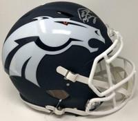 PEYTON MANNING Autographed Denver Broncos Authentic Speed AMP Helmet FANATICS