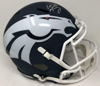 PEYTON MANNING Autographed Denver Broncos Full Size Speed AMP Helmet FANATICS