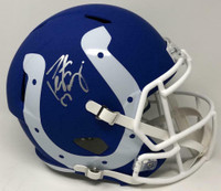 PEYTON MANNING Autographed Indianapolis Colts Full Size Speed AMP Helmet FANATICS