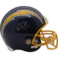 """DAN FOUTS Autographed """"HOF '93"""" San Diego Chargers Authentic Proline Helmet FANATICS"""