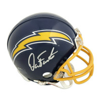 DAN FOUTS Autographed San Diego Chargers Throwback Mini Helmet FANATICS