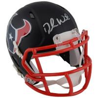 DESHAUN WATSON Autographed Houston Texans Black Matte Mini Helmet FANATICS