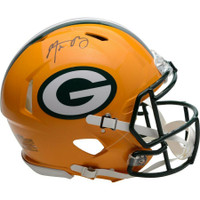 AARON RODGERS Autographed Green Bay Packers Speed Authentic Helmet FANATICS