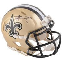 ALVIN KAMARA Autographed New Orleans Saints Mini Speed Helmet FANATICS