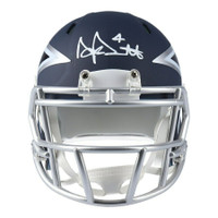 DAK PRESCOTT Autographed Dallas Cowboys AMP Speed Mini Helmet FANATICS