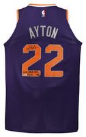 """DEANDRE AYTON Autographed Suns """"2018 NBA #1 Pick"""" Authentic Jersey GDL LE 22/22"""