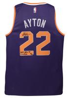 """DEANDRE AYTON Autographed Suns """"2018 NBA #1 Pick"""" Swingman Jersey GDL LE 22/22"""