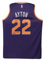 """DEANDRE AYTON Autographed Suns """"Time To Rise"""" Swingman Jersey GDL LE 22/22"""