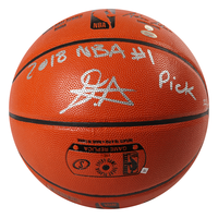 "DEANDRE AYTON Autographed (Silver) ""2018 NBA #1 Pick"" Basketball GDL LE 22/22"