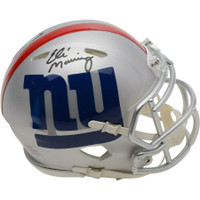 ELI MANNING Autographed New York Giants Speed AMP Mini Helmet FANATICS