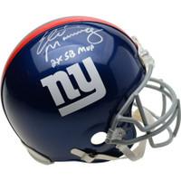 "ELI MANNING Autographed NY Giants ""2x SB MVP"" Proline Helmet FANATICS"