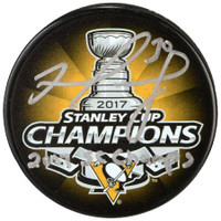 MATT MURRAY Autographed Pittsburgh Penguins SC Champs Puck FANATICS