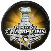 MATT MURRAY Autographed Pittsburgh Penguins SC Champs Logo Puck FANATICS