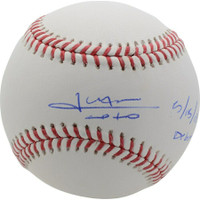 "JUAN SOTO Autographed Washington Nationals ""MLB Debut 5/15/18"" Official MLB Baseball FANATICS"