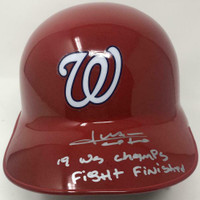 "JUAN SOTO Autographed Washington Nationals ""19 WS Champs"" Batting Helmet FANATICS LE 1/22"