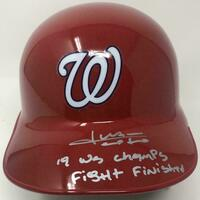 "JUAN SOTO Autographed Nationals ""19 WS Champs"" Batting Helmet FANATICS LE 22"
