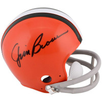 JIM BROWN Autographed Cleveland Browns Mini Helmet FANATICS
