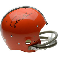 JIM BROWN Autographed Cleveland Browns 1962-74 TK Suspension Helmet FANATICS