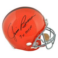 JIM BROWN Autographed 3x MVP Cleveland Browns Proline Authentic Helmet FANATICS