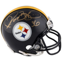 JEROME BETTIS Autographed Pittsburgh Steelers Mini Helmet FANATICS