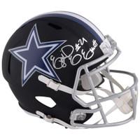 EZEKIEL ELLIOTT Autographed Dallas Cowboys Black Matte Speed Helmet FANATICS