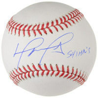 "DAVID ORTIZ Autographed Boston Red Sox ""541 HR's"" Baseball FANATICS"
