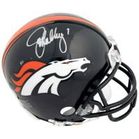 JOHN ELWAY Autographed Denver Broncos Mini Helmet FANATICS