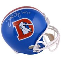 "JOHN ELWAY Autographed ""HOF 04"" Broncos Old D Proline Authentic Helmet FANATICS"