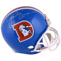 "JOHN ELWAY Autographed ""87 NFL MVP"" Denver Broncos Proline Authentic Helmet FANATICS"