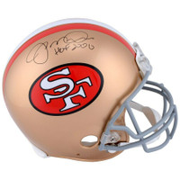 "JOE MONTANA Autographed ""HOF 2000"" San Francisco 49ers Proline Helmet FANATICS"