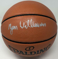 ZION WILLIAMSON Autographed New Orleans Pelicans Spalding Basketball FANATICS