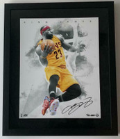 "LeBRON JAMES Autographed Cleveland Cavaliers ""Blow By"" Framed 16"" x 20"" Photograph UDA Limited Edition 5 of 123"