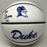 ZION WILLIAMSON Autographed Duke Blue Devils White Panel Basketball FANATICS
