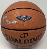 ZION WILLIAMSON Signed New Orleans Pelicans Logo Spalding Basketball FANATICS
