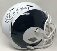"ERIC DICKERSON Autographed ""HOF '99"" Los Angeles Rams AMP Speed Helmet FANATICS"
