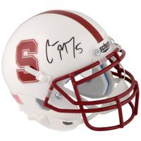 CHRISTIAN McCAFFREY Autographed Stanford Cardinal Mini Helmet FANATICS