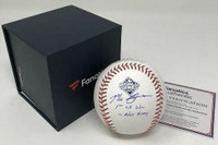 "MAX SCHERZER Autographed Washington Nationals ""1st WS Win"" Official WS Baseball FANATICS"