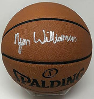 ZION WILLIAMSON Autographed New Orleans Pelicans Authentic Spalding Basketball FANATICS