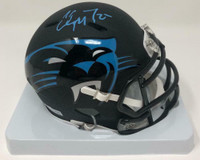 CHRISTIAN McCAFFREY Autographed Carolina Panthers AMP Mini Helmet FANATICS