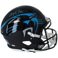 CHRISTIAN McCAFFREY Autographed Carolina Panthers Authentic Speed AMP Helmet FANATICS