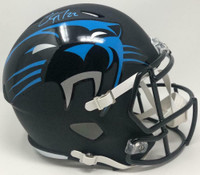 CHRISTIAN McCAFFREY Autographed Carolina Panthers AMP Speed Helmet FANATICS
