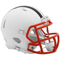 Cleveland Browns NFL Riddell Flat White Matte Revolution Speed Mini Helmet